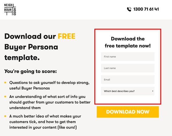 Landing Page A/B Testing of the Form