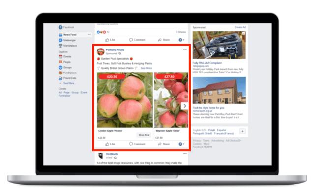 Placement 2: Desktop News Feed