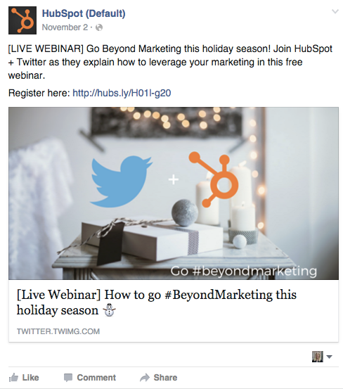 Social media co-marketing